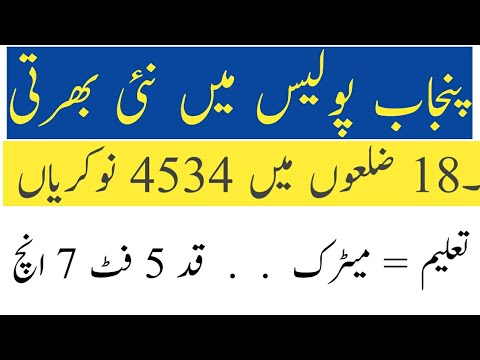 Punjab police Constable & lady Constable jobs | new jobs | career channel