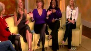 "JENNIFER ANISTON ""The View"" Brad Pitt HD In Depth Interview Part One Rebecca Black My moment"