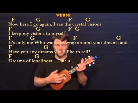 Dreams (Fleetwood Mac) Soprano Ukulele Cover Lesson with Chords / Lyrics