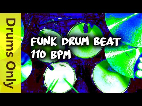 Backing Track - Funk Drum Beat - 110 BPM Jim Dooley