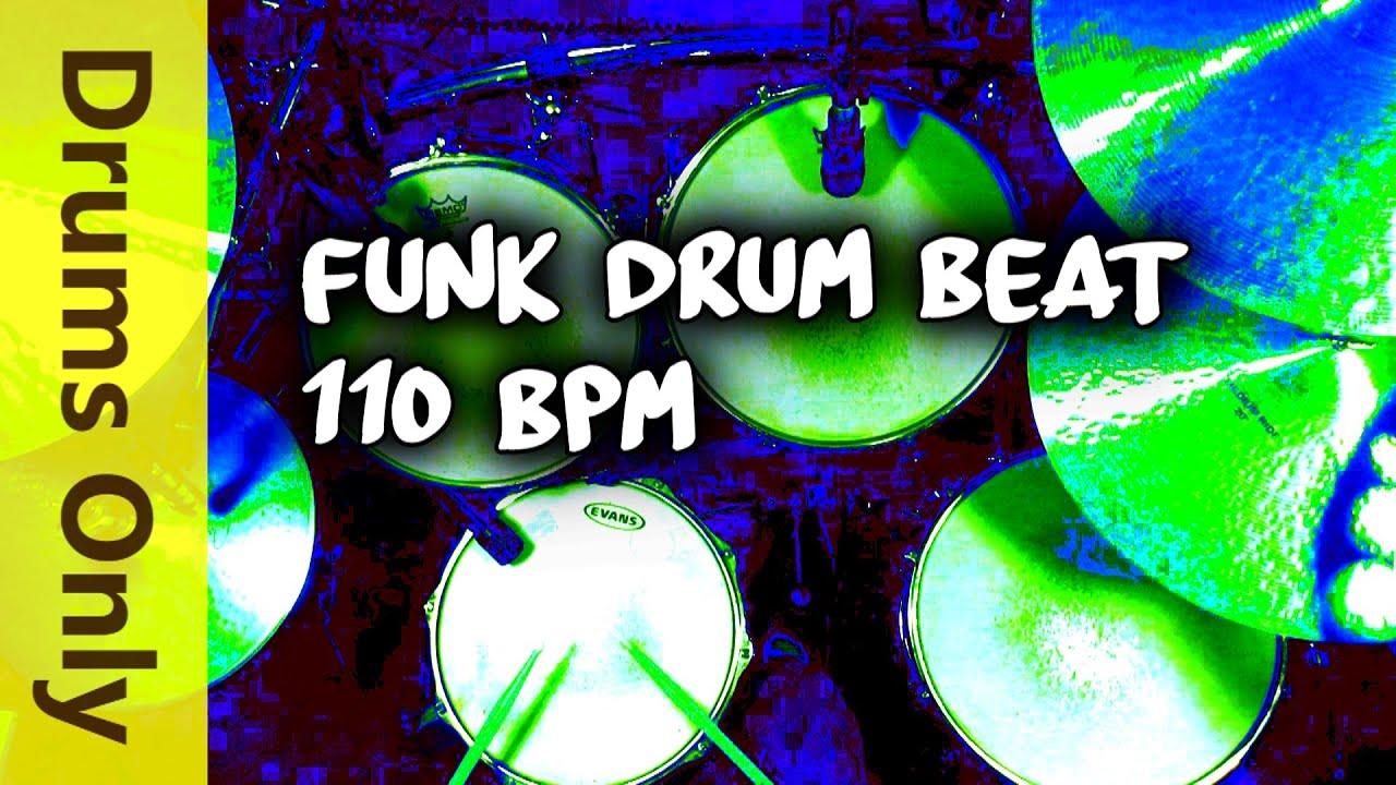 Backing Track - Funk Drum Beat - 110 BPM Jim Dooley