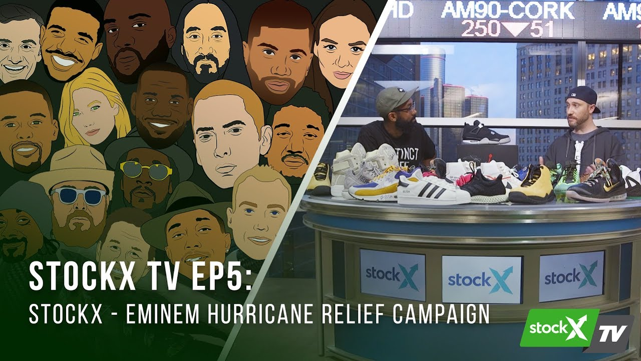60a3c856659d8 StockX TV Ep. 5 - Eminem Hurricane Relief Campaign - YouTube