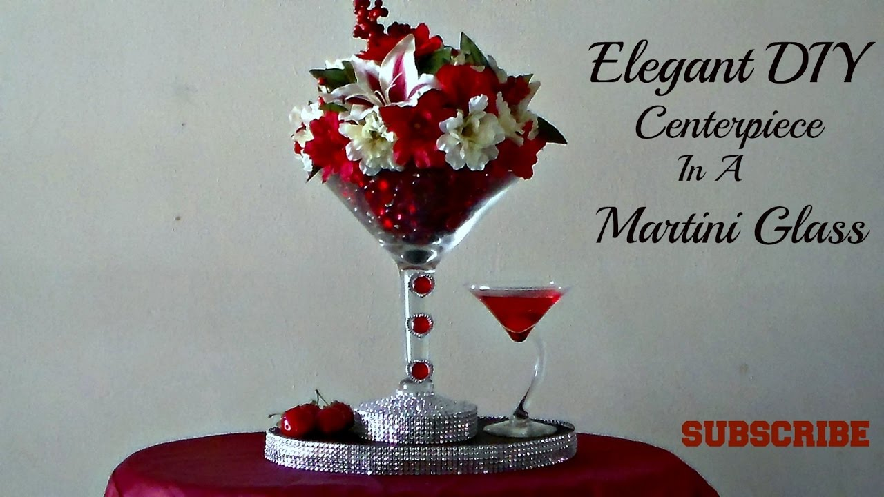 Diy dollar tree centerpiece in a martini glass youtube diy dollar tree centerpiece in a martini glass reviewsmspy