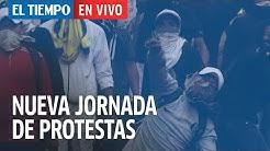 Duros enfrentamientos en Quito Ecuador