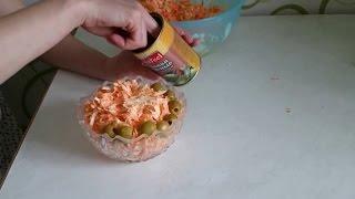 Рецепт салата вкусный с колбасным сыром как приготовить пошагово ужин домашние классический видео