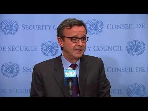 SC President, Sebastiano Cardi (Italy) on Western Sahara, Iraq, and other topics - Media Stakeout