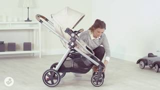Maxi-Cosi l Zelia pushchair l How to brake and lock the swivel wheels