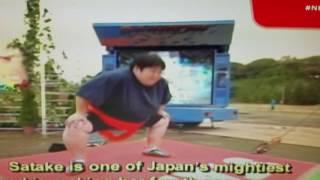 My favorite TV show Ninja Warrior. Female Sumo wrestler.