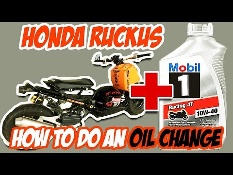 How to do a Honda Ruckus Oil Change for beginners