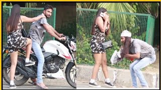 Beggar Picking Up Hot Girl With Sports Bike    Prashant Shukla    NSB