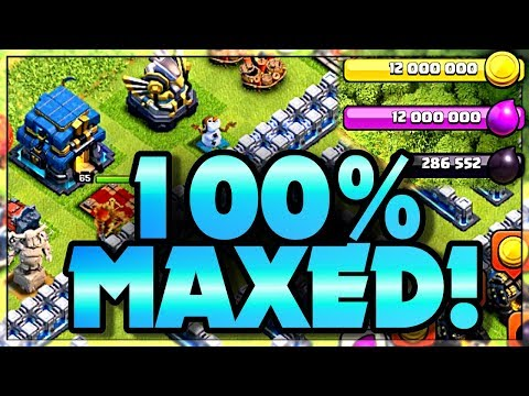 Clash Of Clans 100% Maxed Out Base And How I Did It