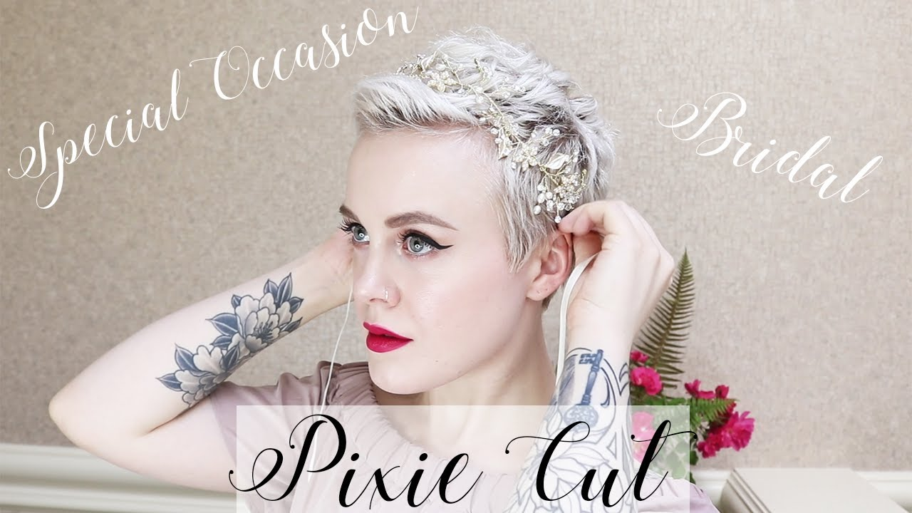 Special Occasion & Bridal Pixie Cut Hairstyles ✨ How to Curl a Pixie Cut