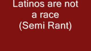 Latino/Hispanic is not a Race