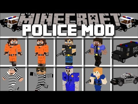 Minecraft POLICE MOD / FIGHT CRIME AND KILL PRISONERS THAT ESCAPE PRISON!! Minecraft