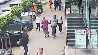 White man assaults Older Woman and Younger Female