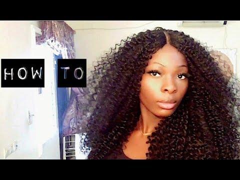 how to comment faire une perruque boucl e avec effet closure youtube. Black Bedroom Furniture Sets. Home Design Ideas