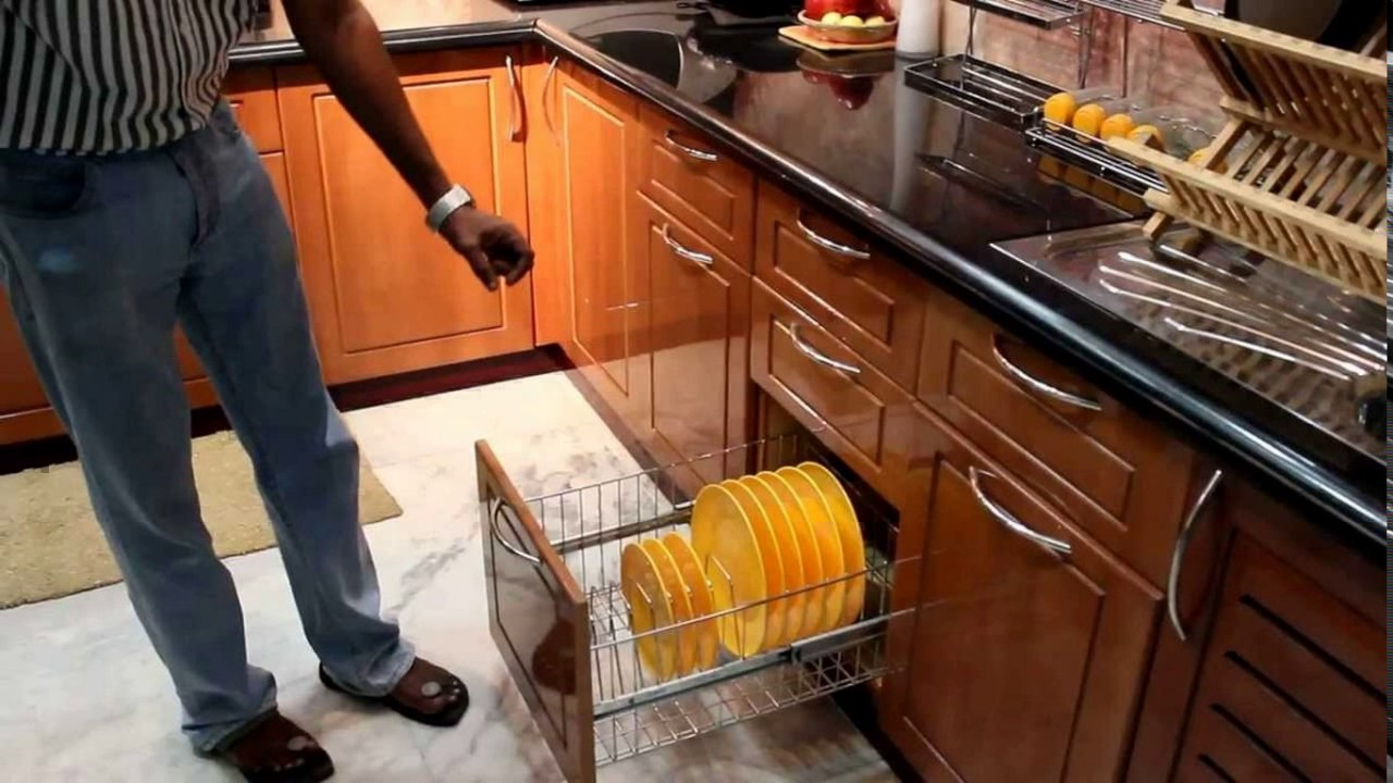 Aditya kitchen trolley designs youtube for Kitchen trolley designs for small kitchens