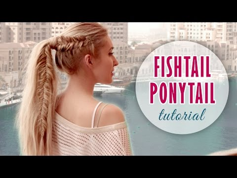 Fishtail braid into high ponytail hairstyle ★ Medium/long hair tutorial