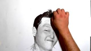PSY DANCING GANGNAM STYLE - SPEEDART DRAWING PAINTING