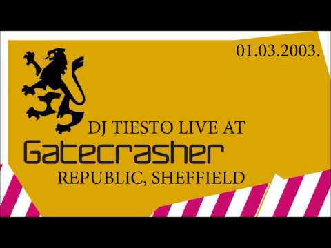 DJ Tiesto Live At Gatecrasher, Republic, Sheffield, 01.03.2003.