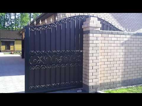 Откатные кованые ворота.тюмень