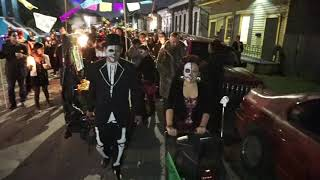 Watch New Orleans' first Day of the Dead Second-Line parade video