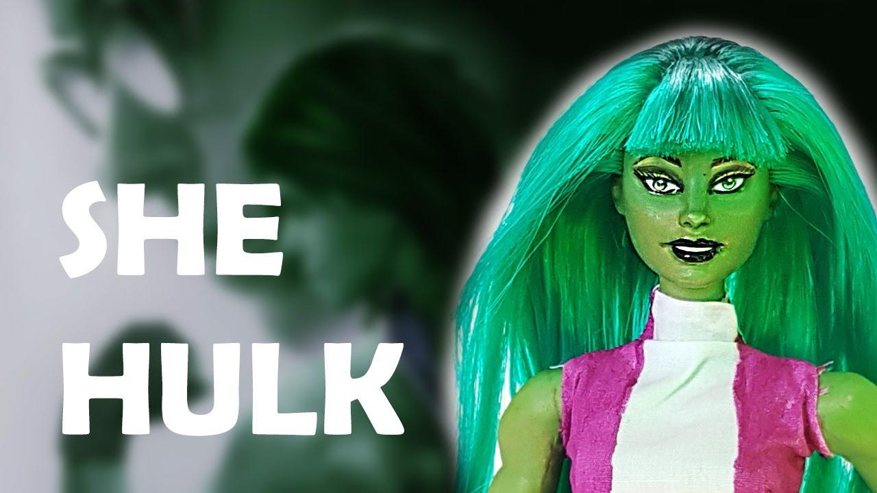 She Hulk Custom Doll