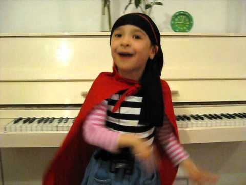 5 Year Old Sings The Pirate Song - When I Was One