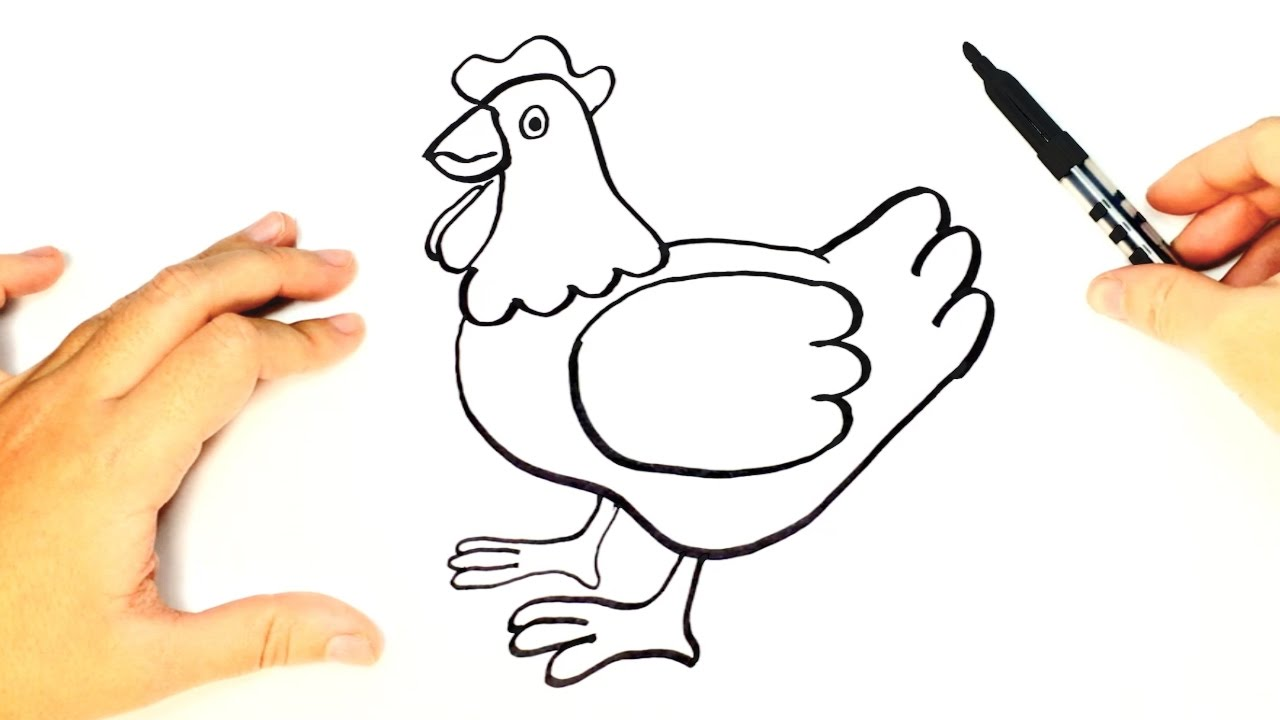 how to draw a little hen for kids little hen easy draw tutorial