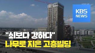 '쇠보다 강한 목재'…24층 나무 빌딩 / KBS뉴스(…