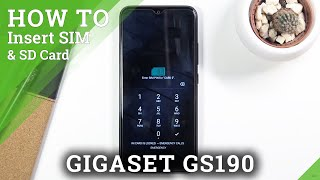 How to Insert SIM and SD Card into GIGASET GS190 – Input SIM Card
