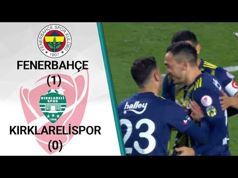 Fenerbahçe 1 - 0 Kırklarelispor MAÇ ÖZETİ (Ziraat Türkiye Kupası Çeyrek Final Rö
