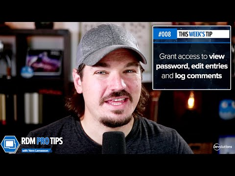 Easily grant access to view password, edit entries and log comments - RDM Pro Tip 008