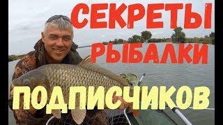 Секрети риболовлі передплатників каналу ''Все для клювання''.