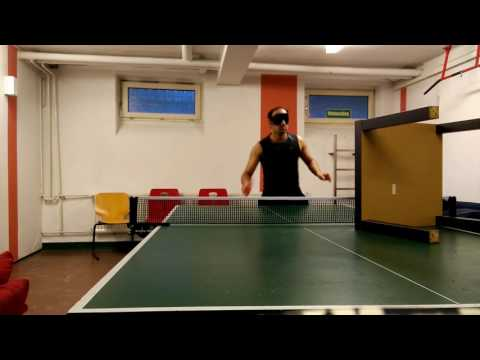 Table Tennis Blind Push Practice to improve Intuition, Concentration and Visualistion with Siva