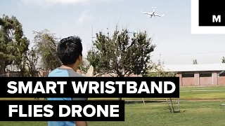 This is a wristband-controlled drone
