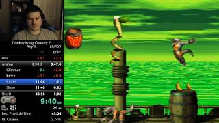 (45:41) Donkey Kong Country 2 any% speedrun