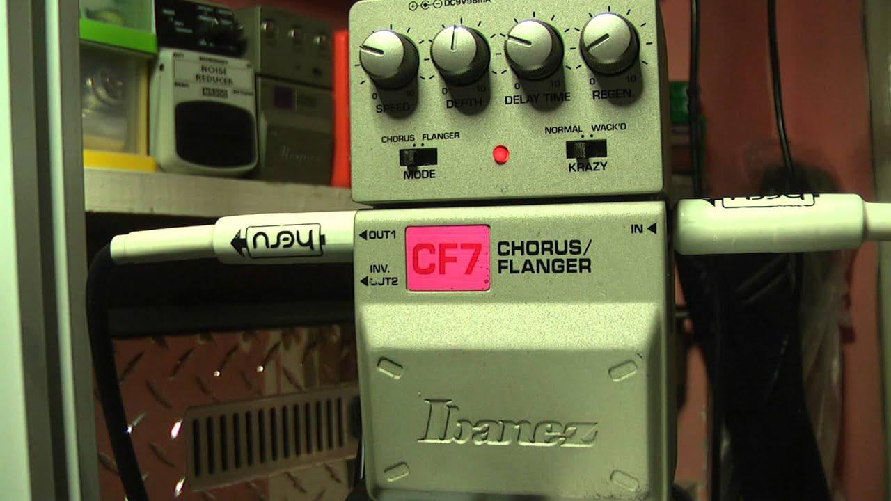 ibanez cf7 chorus flanger rockday test youtube