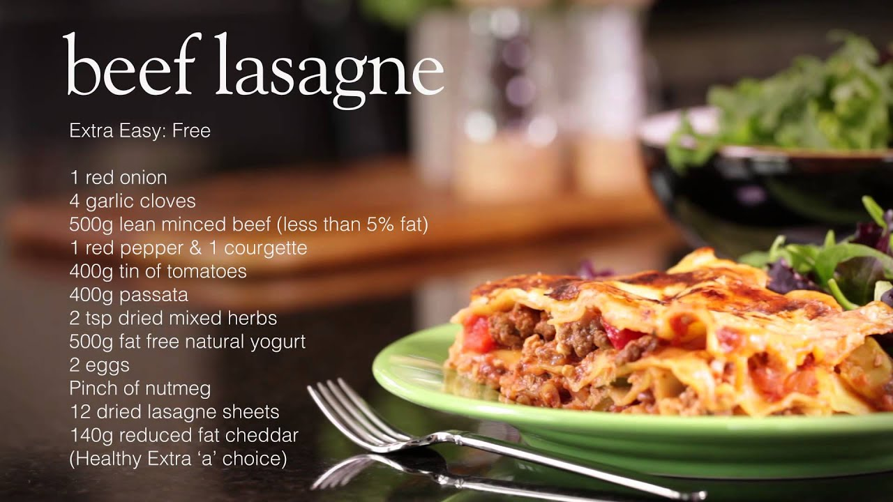 Slimming world healthy lasagne recipe youtube Slimming world meal ideas