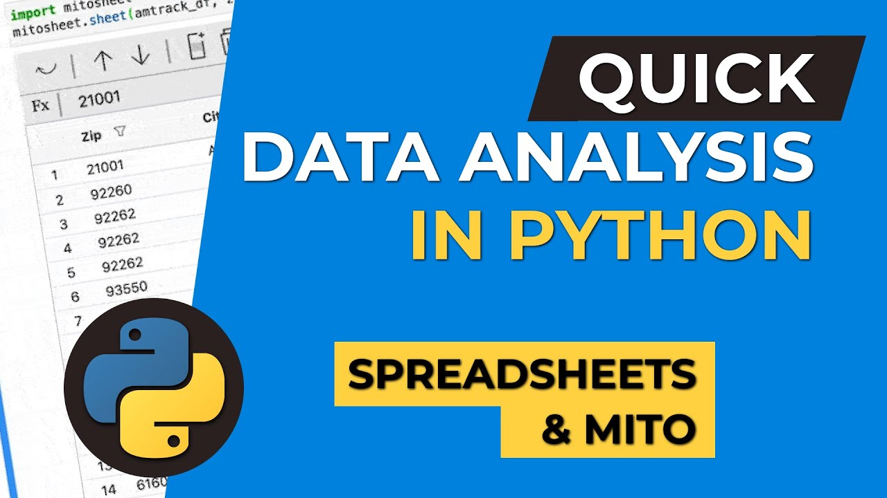 Quick Data Analysis In Python Using Mito