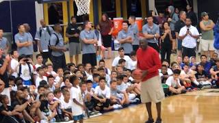 MJ Flight School 2017:  Michael Jordan at Age 54 Shows He Can Still Shoot!