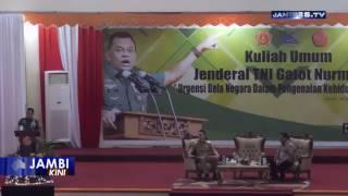 Video 7000 Mahasiswa UNJA Antusias Ikuti Kuliah Umum Bersama Panglima TNI download MP3, 3GP, MP4, WEBM, AVI, FLV Desember 2017
