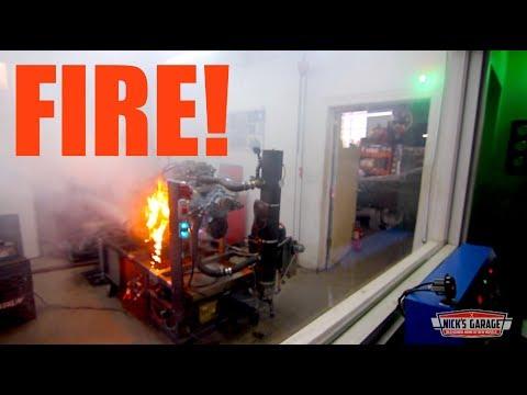 Fire On The Dyno!! - Pontiac 455 Lights Up