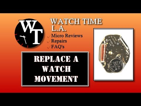 How To Replace A Watch Movement, Hands or Dial