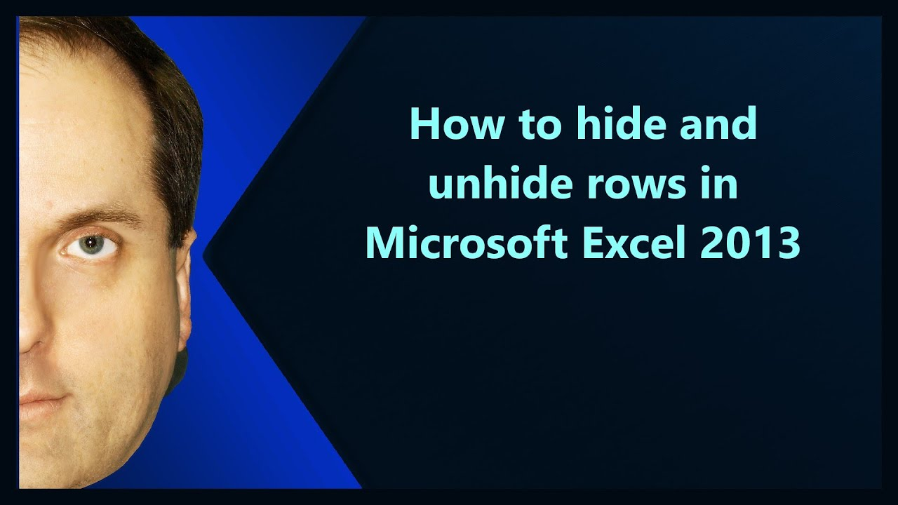 How To Hide And Unhide Rows In Microsoft Excel