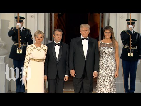 Trumps welcome France's Macrons for state dinner