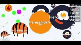 [720 HD] FIEROSAMOS NEW SKIN & Full Domination Gameplay AGAR.IO