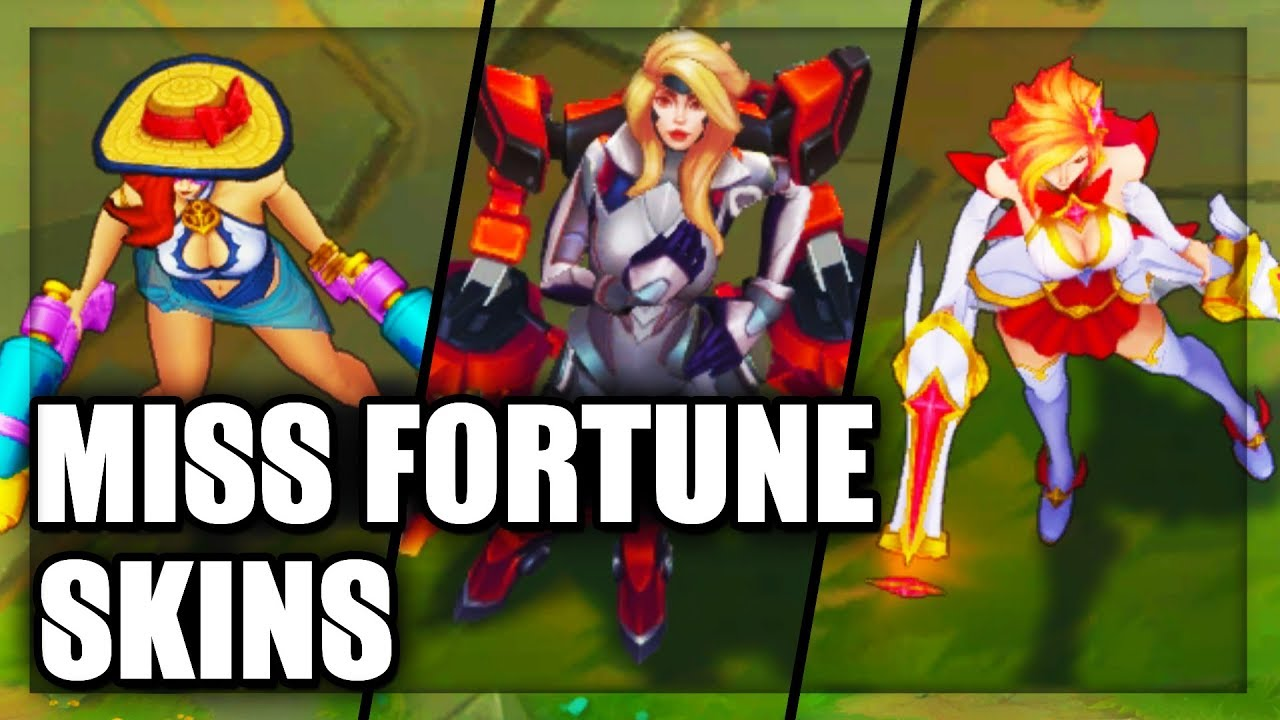 All Miss Fortune Skins Spotlight League Of Legends Youtube