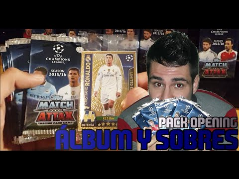Álbum Y Sobres Topps Match Attax Champions League 15/16 (Unboxing)