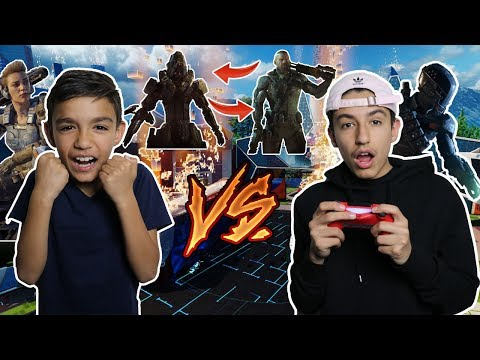 Black Ops 3 Specialist Only Gun Game 1v1 Against Little Brother! (Funny)